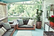 "Porches/ veranda's mooie ""buitenplekjes""..."