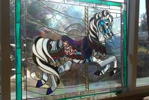 stained glass, some we made / by Carol Lewis