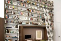 {interiors}: office + library  / by Victoria Simpson