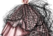 Dresses drawings