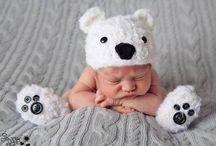 gorros bebés tejidos