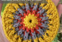 gekleurd  rondje haken