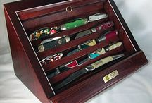 Knife display cases