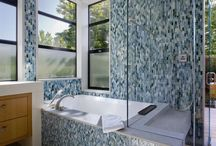 Bathroom Inspirations / The bathroom aka the throne. What better way to celebrate the most sacred room of the house than to dress it up with fabulous wall and floor tile? Check out these pins for decoration inspiration