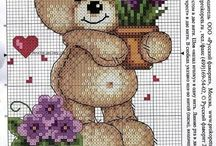 Punto croce baby orsetti 1