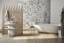 FLOU / Sfumature lucide, superfici geometriche e colori di tendenza per rivestimenti contemporanei, arricchiti da decorazioni originali.