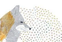 Art. Foxes. Kitsune