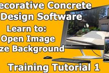 Decorative Concrete Photo Imaging Design Software - Learn How to Design / These Training videos will take you from start to finish on a Decorative Concrete Design.