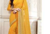 Beautiful Georgette sarees from Vessido. / Get these georgette Sarees starting @ Rs. 999/-