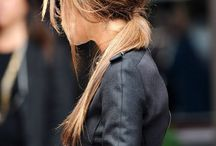messy low ponytail