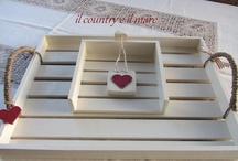 Vassoi e portatovaglioli in legno