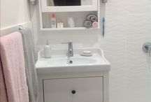 Our ensuite renovation, what you can achieve in a very small space. Google was our friend! / Our 1800 x 1800mm ensuite we made and our walk in robe. First attempt.