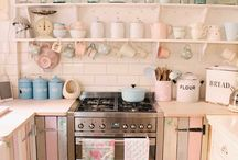 Pretty In Pink / Add a touch of softness to your design scheme with a pink hued kitchen.