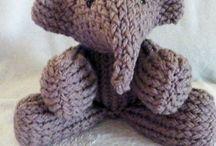 Loom knit stuff elephant