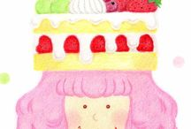 My illustrations / I draw illustrations with colored pencils and pastels etc.  http://tomohachi.tumblr.com