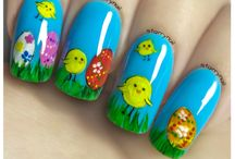 Easter Freehand Nail Art