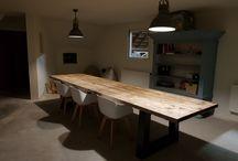 Teakea | Steigerhouten tafels / Een collectie foto's van hoe onze klanten hun steigerhouten eettafel hebben ingericht.