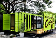 Container for living and café