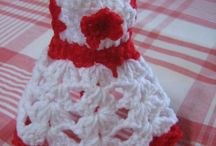 Aprons and dresses for soap bottles