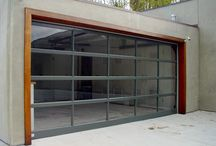 Garage Doors - Modern / Modern and contemporary garage doors. Often made of aluminum and glass, though sometime in wood or steel, these garage doors are some of our top sellers here at OK Door Service. The combinations are endless. The beauty is real.