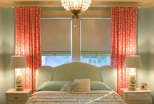 Girls room / Ideas for upholstered beds, color schemes for young girls room