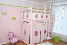 Etagenbett Prinzessin / Wunderschönes Etagenbett für kleine und große Prinzessinen in tollen Mädchenfarben.