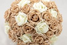 Cappuccino Wedding Theme / Cappuccino colour themed wedding flowers by Petals Polly. www.petalspollyflowers.co.uk
