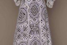Винтажные платья крючком