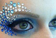 maquillaje con pedreria