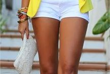 Outfit with yellow spot