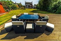 11 Piece Black Rattan Cube Table Set Home  Garden Pool Furniture OUTDOOR  #Beauty4Less