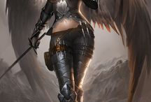 Angel / Warrior / Gothic Art