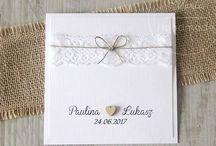 Rustykalne zaproszenia / Zaproszenia minimalistyczne, w stylu rustykalnym