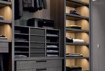 Open plan cupboard