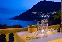 "Romantic restaurant on Positano sea / ""La Pergola"" restaurant"
