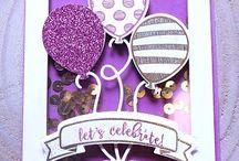 Balloon Pop Up Thinlet Stampin UP! / birthdays, crafts, stamping, Stampin Up!