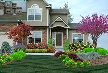 Landscape Design created using PRO Landscape design software / Use PRO Landscape design software to create stunning landscape designs.