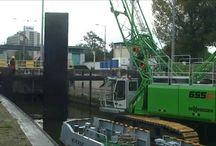 Sennebogen / Gruas para Ingeniería Civil, Hidraulica y Puertos
