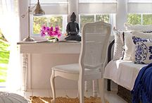 White interior and styling