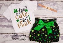 Baby Girl St. Patricks Day Outfits, Glitter Shirts, Bloomers