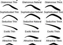 Eye brow shapes