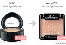 MAC Eye Shadow Dupes