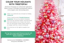 Color Your Holidays With Treetopia / Embrace Treetopia in technicolor splendor! Show us how Treetopia's sensational colored trees inspire your decorating style.
