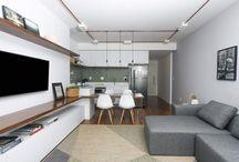 sala de estar,jantar e cozinha