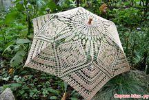 Вязаные зонтики