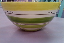 Paint Your Own Pottery - Bowls / Magic Brush Pottery Samples and customer pieces.  Visit us and we can help you make these great pieces. 