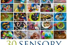 Estimulando los Sentidos / Actividades sensoriales para niños / by Vivi ©