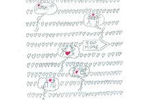 Valentines / Original cards from Folksy.com/Shops/DaubersandShakers