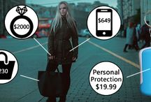 Personal Protection for Women / Recently I was involved in an incident where I was attacked on my way home from work. Luckily for me someone noticed the attack and saved me. I decided to create this board for devices that can help you in a situation out of your control.