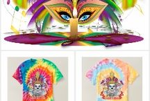 """NEW Mardi Gras Women""""s Cyclone & Spiral Tie-Dye T-Shirt / New from Zazzle for Women Click on one shirt will lead to the rest of different shirts. The Cost of a single Design $100.00 to $500.00, Your cost """"FREE on Zazzle""""why? because you don't have to pay for my services!"""